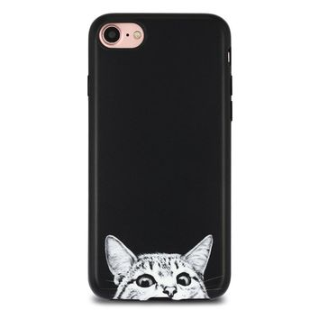 Black Cat Case Cover for iPhone X 8 6S 7 Plus &Gift Box