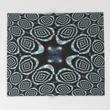 Distant Galaxies Trap Throw Blanket by Moonshine Paradise