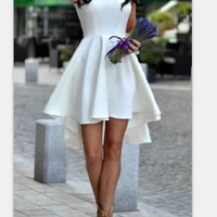 on sale    HOT ELEGANT FRONT SHORT BACK LONG IRREGULAR HOMECOMING DRESS