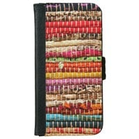 Woven fabric rope style phone wallet
