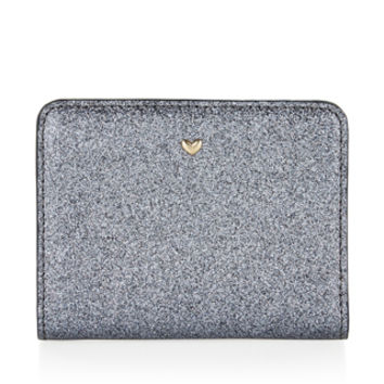 Glitter Heart Mini Wallet | Pewter | Accessorize