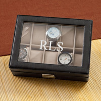 Mens Christmas Gift Ideas, Personalized Watch Box, Mens Leather Watch Box, Groomsmen's Gift - Father's Day Gifts (VB1082)