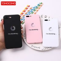 TOMOCOMO For iPhone 8 8Plus X 7 7Plus Soft TPU Silicone Matte Case Girl Sticker Memes Cool Quote Funny Words For iPhone 6 6S 5