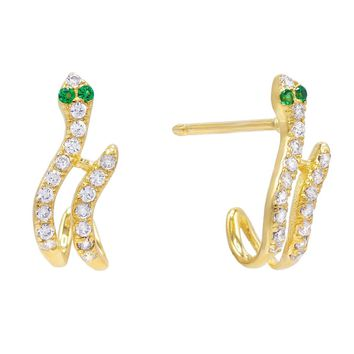 Snake Hook Stud Earring