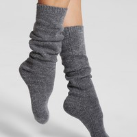 kate spade new york Slouchy Metallic Knee-High Socks