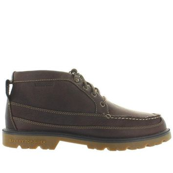 VONES2C Sperry Top-Sider A/O Lug Chukka II - Waterproof Brown Leather Moc Toe Chukka Boot