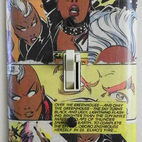 Comic Book superhero Storm X-men comic light switch cover