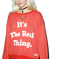Wildfox Couture The Real Thing Pullover Oversized Sweatshirt India