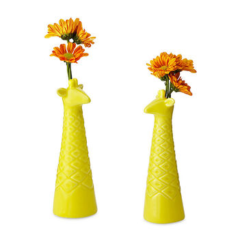 Porcelain Giraffe Bud Vases - Set of 2 | bud vase set, giraffe decor