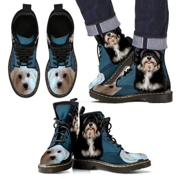 Cute Havanese Print Boots For Men- Express Shipping