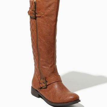 Kara Quilted Riding Boots | Fashion Shoes | charming charlie