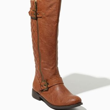 Kara Quilted Riding Boots   Fashion Shoes   charming charlie