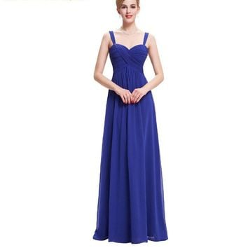 Summer Evening Dresses Long Elegant Black Green Royal Blue Evening Gowns White Formal Dress