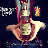 Butterbeer Label Personalized Party Favors