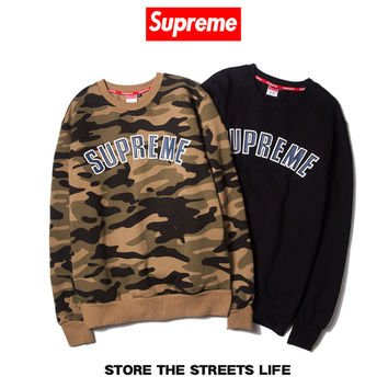 """Supreme"" Unisex Fashion Camouflage Tops Hoodies [9361198087]"