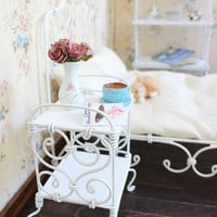 1/6 scale Bedside Table/ Nightstand for dolls(Blythe, Barbie, Momoko, Bratz).