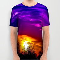 Rainbow  All Over Print Shirt by Faded  Photos
