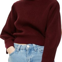 Topshop Lace-Up Back Sweater | Nordstrom