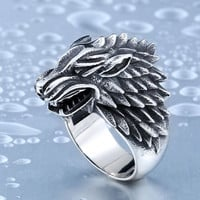 House Stark Stainless Steel Ring