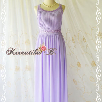Goddess Greek Cocktail Dress Lilac Party Dress Wedding Bridesmaid Dress Prom Dress Greek Style Inspired Crystal Bead Embroidered US 2-6