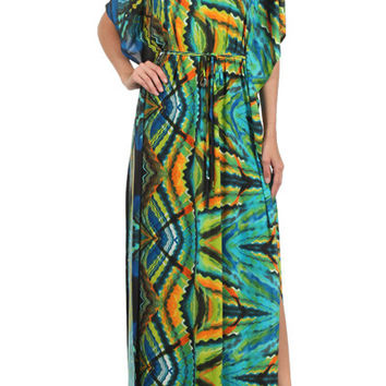 Raging Fury Kimono Dress (Green)