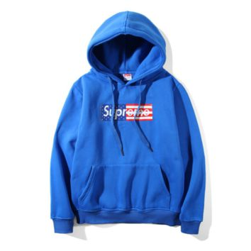 Supreme American Flag Printed Hoodies Sweatershirt Pullover