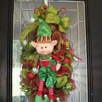Christmas Wreath, Christmas Door Swag, Christmas Door Hanger, Christmas Decoration