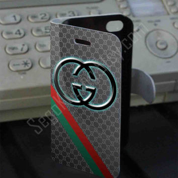 logo gucci Leather Folio Case for iPhone and Samsung Galaxy