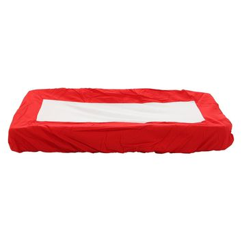 Red change pad cover