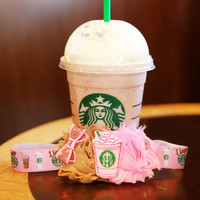 Starbucks Bow, Starbucks Headband, Coffee Bows, Baby Girl Hairbows, Hair Accessories, Pink Bows, Tan Bows, Coffee, Starbucks