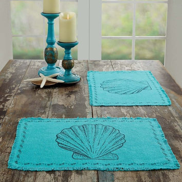 Sandy Burlap Placemat Set of 6 | Overstock.com Shopping - The Best Deals on Placemats