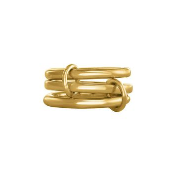 Gold-Plated Sterling Silver Linked Rings