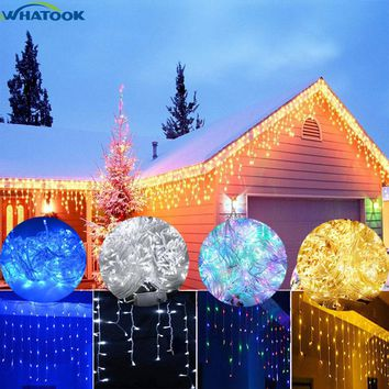 LED Garland Light Icicle String Lights 220V Christmas Decorations 5M 100 Leds for Home Outdoor Weeding Curtains Holiday lighting