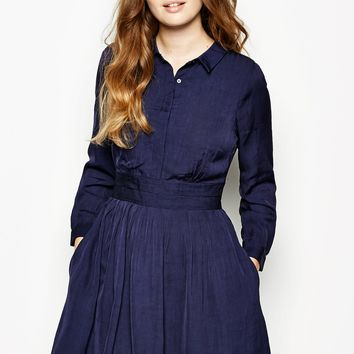 Harton Long Sleeve Shirt Dress