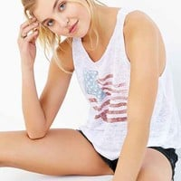 Project Social T Americana Tank Top- Ivory