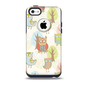 Various Cartoon Owls Pattern Skin for the iPhone 5c OtterBox Commuter Case