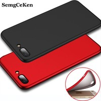 SemgCeKen Luxury Cover Case For iPhone 6 6s iPhone6 6 s Original Black Silicone Silicon Slim TPU Phone Cases Covers Coque