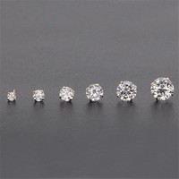 PE10 Titanium Earrings With AAA Round Clean Zircon 316l Stainless Steel Earring IP Plating No Fade Allergy Free Quality Jewelry