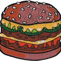 C&D Visionary Burger Patch Accessories Patches at Broken Cherry