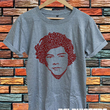 one direction shirts harry styles shirt t shirt t-shirt tshirt tee shirt sport grey printed unisex size (DL-88)