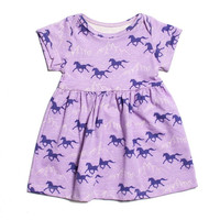 Winter Water Factory Wild Horses Lavender Dress