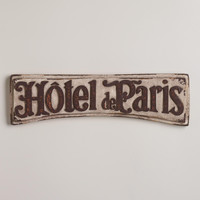 HOTEL DE PARIS SIGN