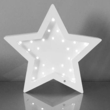Star Night Light Nursery night light gift decor kids Marquee lights Gift Star light wall decor