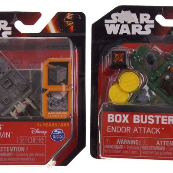 Star Wars Box Busters Set Battle of Yavin Endor Attach Disney Spin Master Lot 2