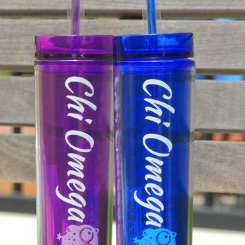 Sorority acrylic cups, tall acrylic cups, skinny plastic cups, personalized cups, summer cups, cups with straws, bridal party gift