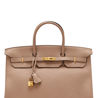 35cm Potiron Fjord Leather Birkin by Heritage Auctions Special Collections Now Available on Moda Operandi