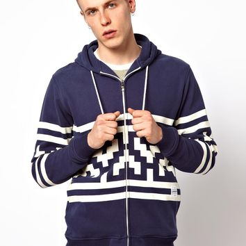 Supremebeing Zip Thru Sweat With Bobble Hood Invader -