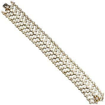 CARTIER Paris Vintage Diamond in Gold Wide Bracelet 30 Carats