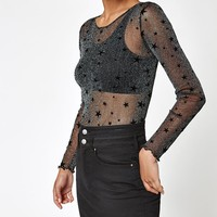 LA Hearts Star Mesh Long Sleeve Top at PacSun.com