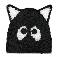 ON SALE 15% OFF Large 9cm Chenille Cute Cat Patch Applique